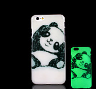 Panda Pattern Glow in the Dark Cover for iPhone 6 Plus Case