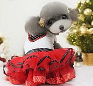 Dog Dress Red Dog Clothes Summer Floral / Botanical Wedding