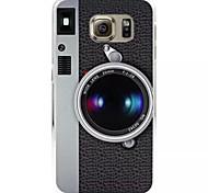 Mode Kamera Muster gemalt Relief-harter Plastikfall für Samsung-Galaxie s6