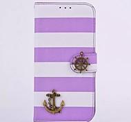 bateau pirate pu étui en cuir pour (couleurs assorties) Samsung Galaxy S