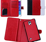 New Arrival Genuine Leather Wallet Cases with 9 Cards Slots for Samsung  Galaxy Note 4