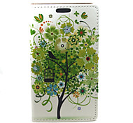 For Samsung Galaxy A3 Green tree Compatible Graphic PU Leather Full Body Cases/Cases with Stand