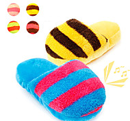 Puppy Chew Play Toys Rainbow Color Slipper Squeaky Toys for Pets Dog Cat(Assorted Colors)(1 pc)