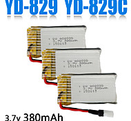 3pcs/pack 3.7v 380mAh Lipo YD-829.YD829C Battery  Quadcopter Drone Original Batteries