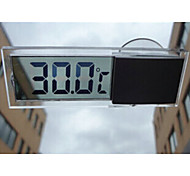 Transparent LCD Thermometer Sucker Car Thermometer Is Suitable for Indoor Car Home Dual-use