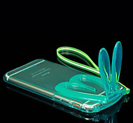 Lovely Transparent Rabbit Ears Protective Case for iPhone 6(Assorted Colors)