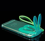 bella orecchie di coniglio trasparenti custodia protettiva per iPhone 6 (colori assortiti)