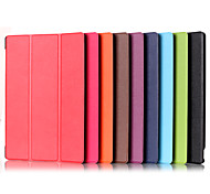 10 Inch Three Folding Pattern PU Leather Case with Stand for DELL Venue 10 Pro 5055(Assorted Colors)