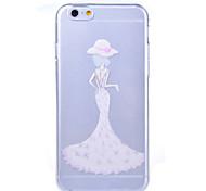 padrão de casamento vestido de dama de capa mole TPU para iphone 6 / 6s