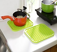 100% Silicone Nonslip pad Bowl Saucepan Insulated Heat Mat Random Color