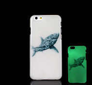 Shark Pattern Glow in the Dark Cover for iPhone 6 Plus Case