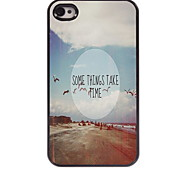 Some Thins Take Time Design Aluminum Hard Case for iPhone 4/4S