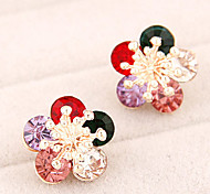 Korean Fashion Sweet Personality Bright Flowers Earrings