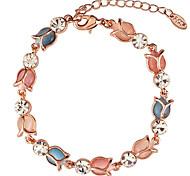 Fashion Sweet  Temperament Flash Diamond Opal Lotus Bracelet