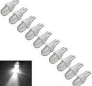 JIAWEN® 10pcs T10 0.5W 30-50LM 6000-6500K Cool White Car Signal Lamps LED Car Light (DC 12V)