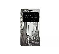 Retro Clock Pattern Fenestration Caller ID Pattern PU Leather Full Body Case for Huawei P8