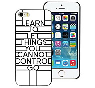 Unique Just Let Go Design PC Hard Case for iPhone I4