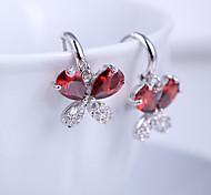 High Quality Fashion Female Butterfly Zircon Earrings