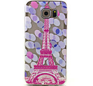 For Samsung Galaxy Case Pattern Case Back Cover Case Eiffel Tower TPU Samsung S6