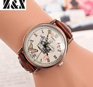 Women's Vintage Diamond Lovely Crown Quartz Analog Leather Belt Wrist Watch(Assorted Colors)