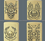 Fire Skull Series Kerosene Lighter Relief Style (Pattern Randomly Shipped)