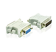 DVI 24+5 Male to VGA Female Adapter