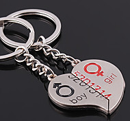 Zinc Alloy Heart Shaped Key Chain (2 PS)