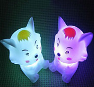 Multicolor Romantic Little Woof Pattern Night Light (Random Color : Yellow/ Red Hat)
