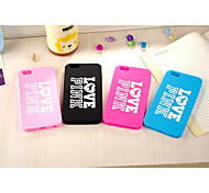 Silicone Material PINK Mixed Color Style for iPhone 6 (Assorted Colors)