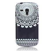 Lace Flowers Pattern TPU Soft Back Cover Case for Samsung S3 Mini I8190N