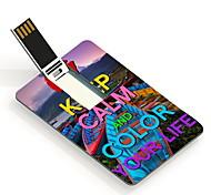 16gb coloré votre vie carte de conception lecteur flash USB