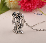 Eruner®Dr Doctor Who Necklace Vintage Antique Silver Crying Weeping Angel Pendant Jewelry