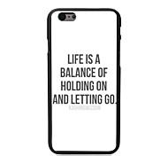 estuche rígido diseño pc vida para el iphone 6