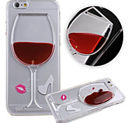 KARZEA™ Flowing Liquid Water Wine Glass Pattern TPU Back Cover Case for iPhone 6 Plus