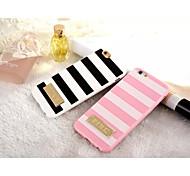 deux TPU de couleur de piano et de haute qualité de style métallique pour iPhone 6 (couleurs assorties)