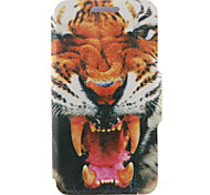 For HTC Case with Stand / with Windows / Flip Case Full Body Case Animal Hard PU Leather HTC