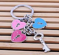 Zinc Alloy Loving Heart Shaped Key Chain