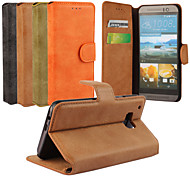 echte matte PU-Leder Flip-Cover Wallet Card Slot Kasten mit Standplatz für htc eins m9 (farblich sortiert)