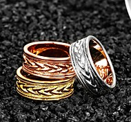 Gold Plated Circular Classic Decorative Pattern Design Ring (More Colors)