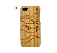 bambou naturel dur couvercle du boîtier à la main pour l'iphone 5 / 5s avec des photos