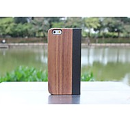 For iPhone 6 Case / iPhone 6 Plus Case with Stand / Flip Case Full Body Case Wood Grain Hard Genuine LeatheriPhone 6s Plus/6 Plus /