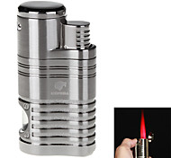 Fashion Windproof Inflatable Four Flame Lighter & Cigar Punch (Assorted Colors)