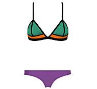néoprène bikini sexy de la mode la couleur de maillots de bain maillot de bain maillot de bain de bonbons des femmes