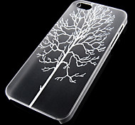 Trees Pattern Transparent Back Case for iPhone5/5s