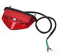 Motorrad-Fahrrad 10 geführt 6mm Schwanz Bremslicht Lampe DC 12V rote Abdeckung
