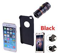 Apexel 4 in 1 teleobiettivo 8x / lente fisheye / grandangolare add-on kit obiettivo macro con il caso posteriore per iPhone 6 più