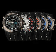 New fashion men's business double movement movement waterproof anti fall large dial watches LCD BWL817
