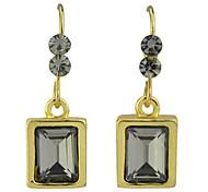 Wholesale  Square Gemstone Women Drop Earrings