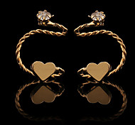 Love Heart Crystal Golde Ear Cuffs(Golden,Silver)