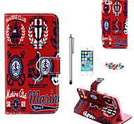 KARZEA™UK Icon Pattern PU Leather Case with Screen Protector and Stylus and Dust Plug for iPhone 6